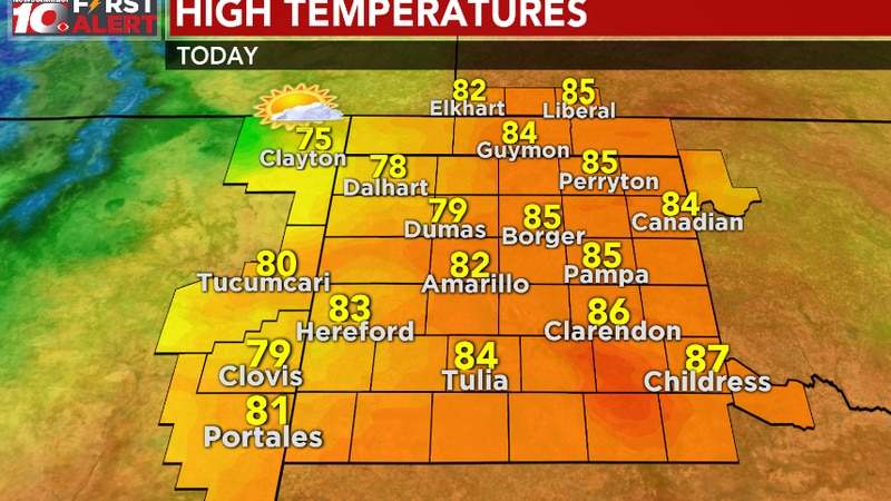 Forecast highs for today