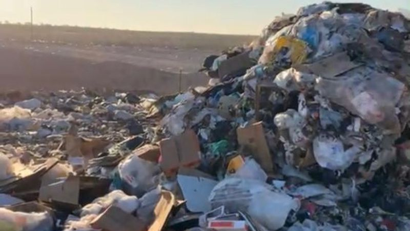 The man was inside a dumpster in Lubbock when the garbage truck came by and dumped him in with...