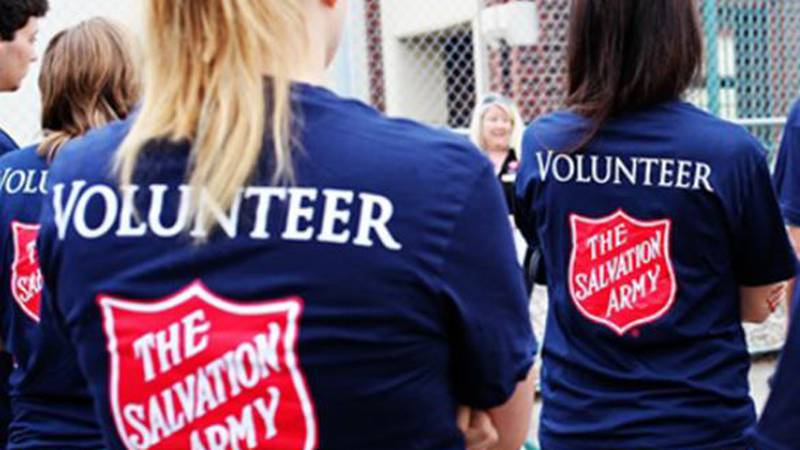 There are numerous opportunities to volunteer with the Salvation Army during the holidays....