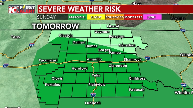 Severe weather outlook for Sunday