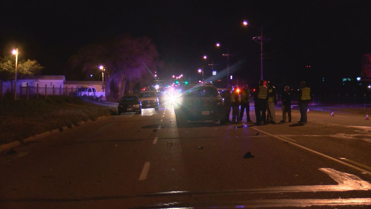 A motorcycle rider has life-threatening injuries after a crash Saturday evening near Bell and...