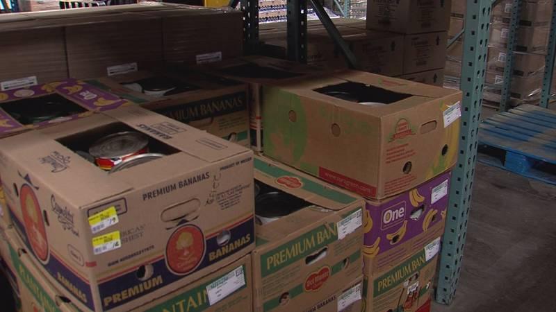 High Plains Food Bank boxes full of foods (Source: KFDA)