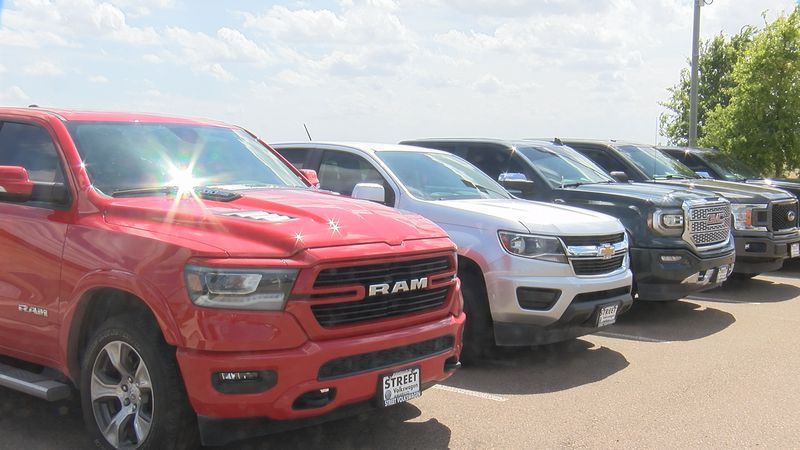 Amarillo car sales are booming, but used pickup trucks are especially popular right now.