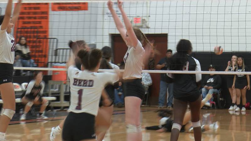The No. 2-ranked Hereford Lady Whitefaces topped Dumas in three sets on Saturday, 25-14, 25-8...