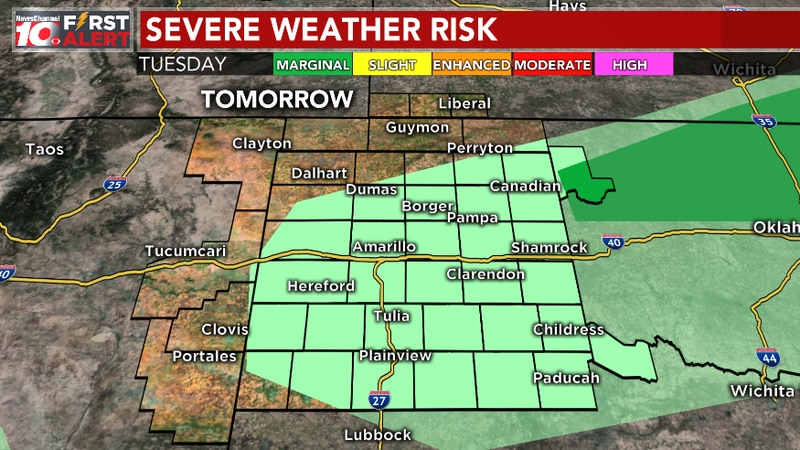 SPC outlook for tomorrow evening