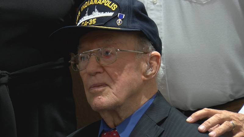 Memphis is home to Texas' only USS Indianapolis survivor, Cleatus Lebow. (Source: KFDA)