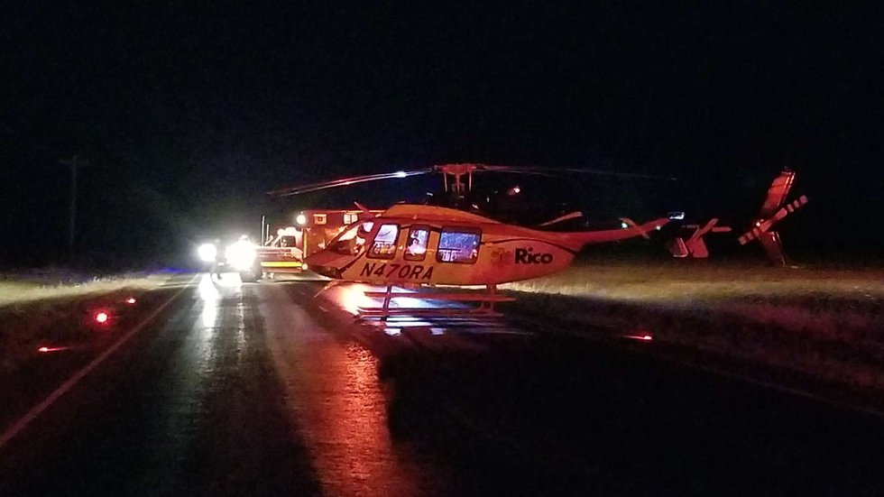 One man has been hospitalized with critical injuries after a head on collision in Hartley...