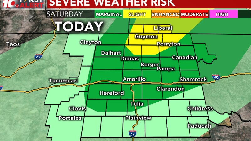 Severe weather outlook for this evening (Saturday, August 8th)