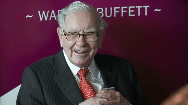 FILE - In this May 5, 2019 file photo, Warren Buffett, chairman and CEO of Berkshire Hathaway,...