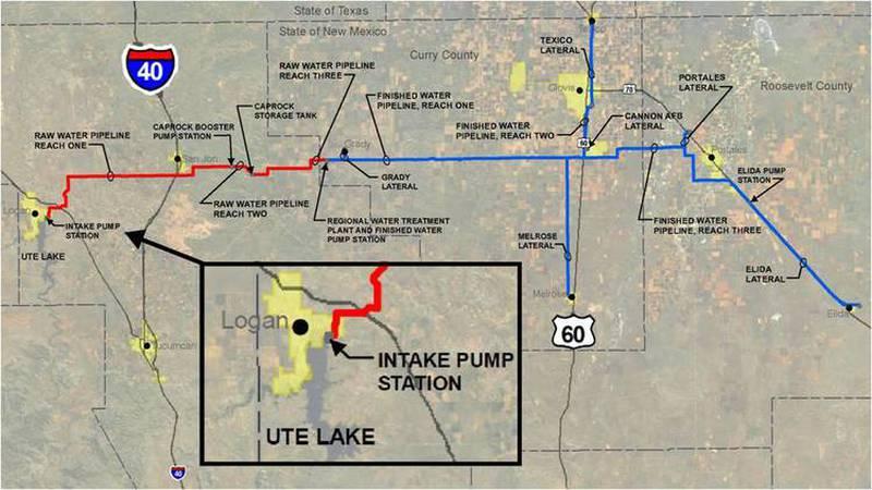 Ute lake pipeline