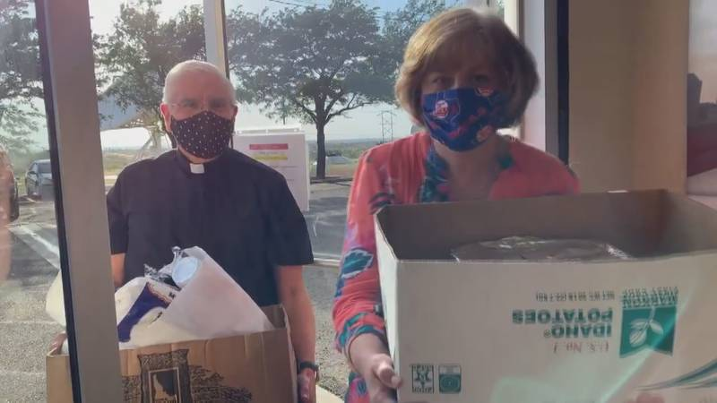 Staff at St. Thomas Catholic Church in Amarillo reaching out to the community in a time of...