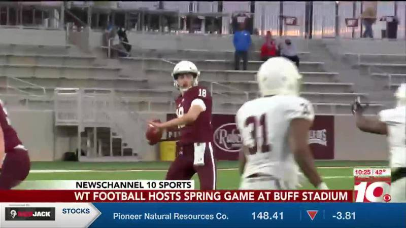 WT football hosts first Spring Game in Buffalo Stadium