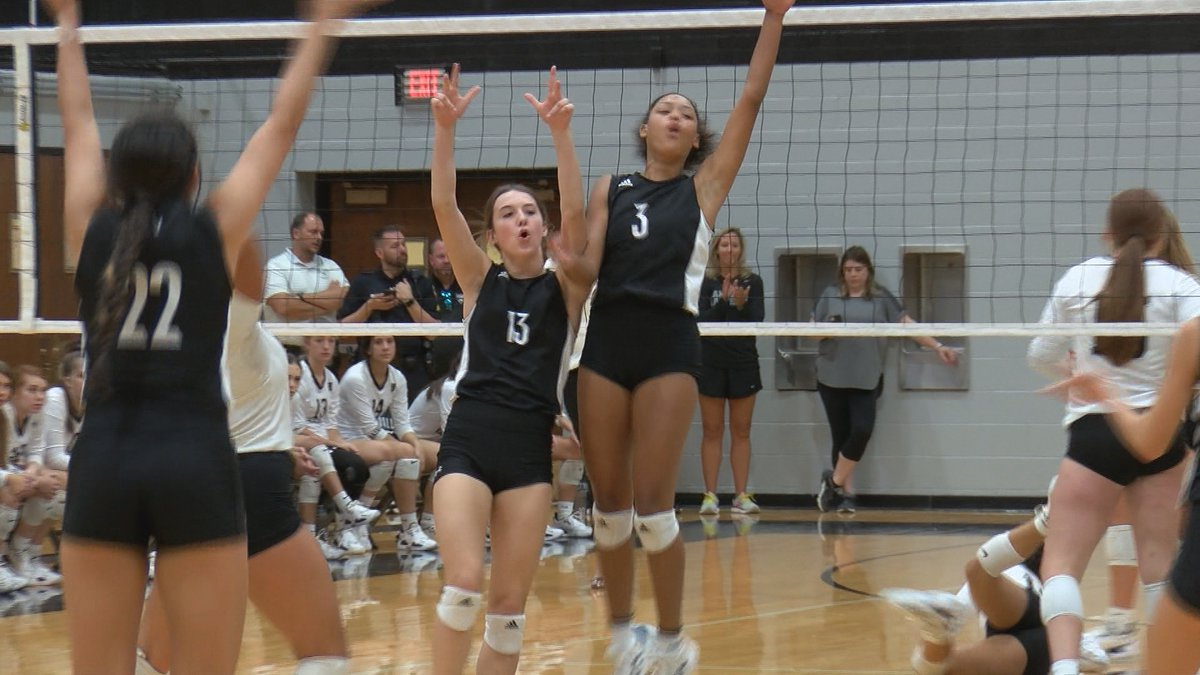 The TGCA 4A No. 5 Hereford Lady Whitefaces win in four sets over the 5A Randall Lady Raiders.
