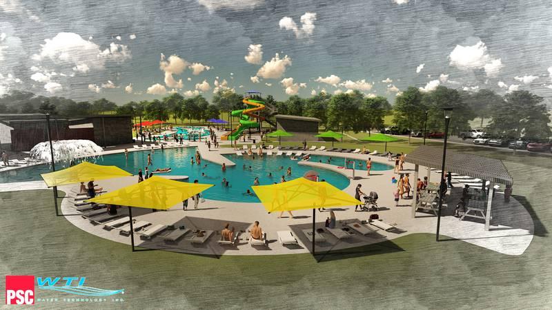 Thompson Park Pool rendering