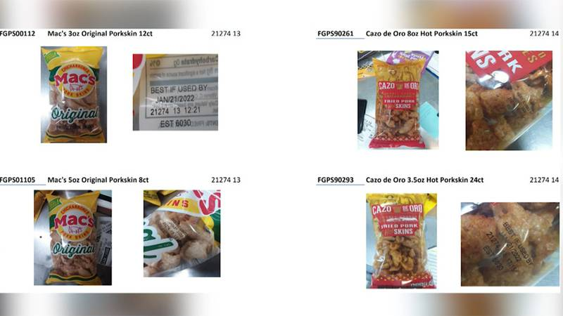 Several brands of chicharrones and pork rinds are impacted by a recall.