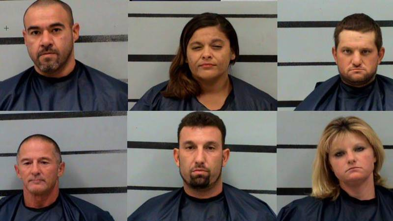 (Top right to left) Freddie Salinas, Heather Casias, Toby Daughtry.  (Bottom right to left)...