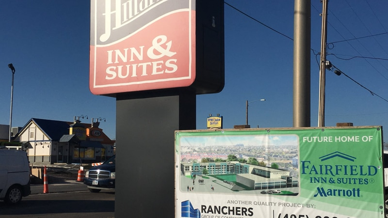 The Amarillo Inn & Suites will soon be split into a Four Points by Sheraton and a Fairfield Inn...