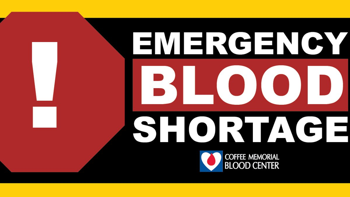 """The Amarillo area is experiencing a """"dangerous"""" blood emergency and now has less than a one-day..."""