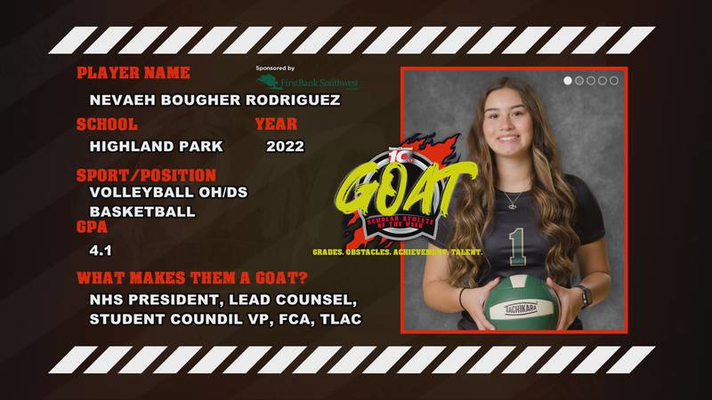 This week's FirstBank Southwest GOAT Scholar Athlete of the Week is thankful for all of the...
