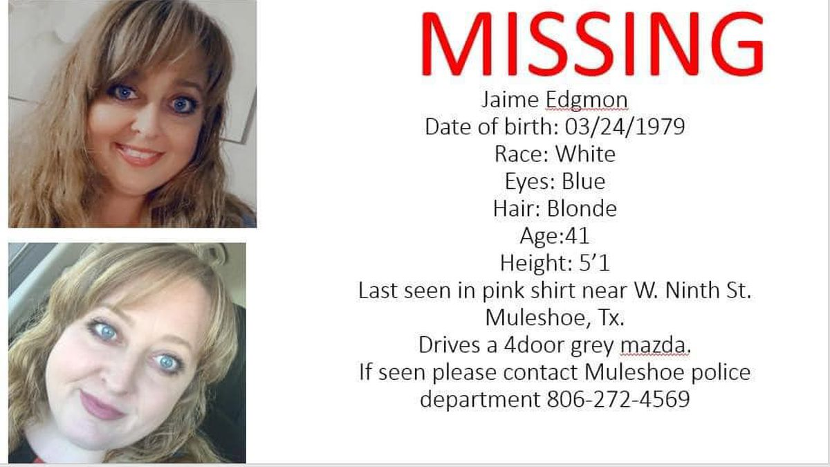 The Muleshoe Police Department is searching for a missing woman, Jamie Edgmon of Muleshoe.