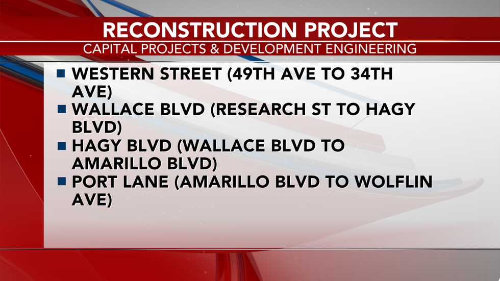 Reconstruction will focus on Western Street from 49th Ave to 34th Ave. Wallace Blvd from...