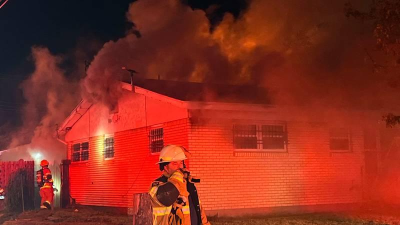 Fire at home on Wayne Street