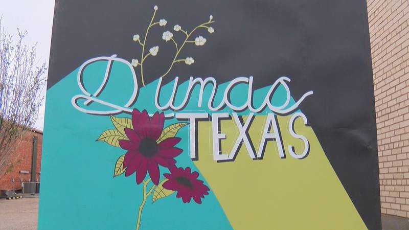 Revitalization in downtown Dumas helps bring foot traffic to small businesses.