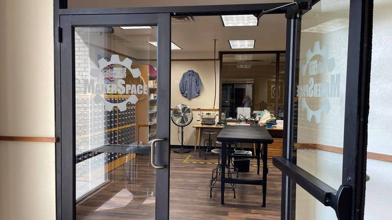 The downtown Amarillo Public Library is offering a new service, MakerSpace where they offer...
