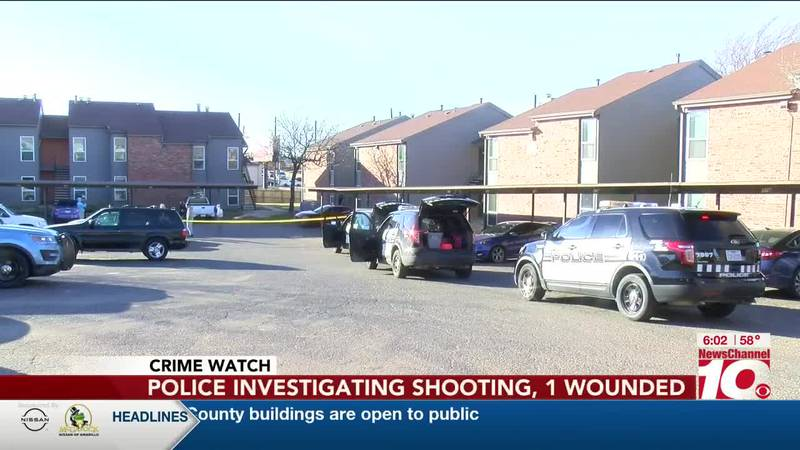 VIDEO: Police investigating shooting at apartment complex, one wounded