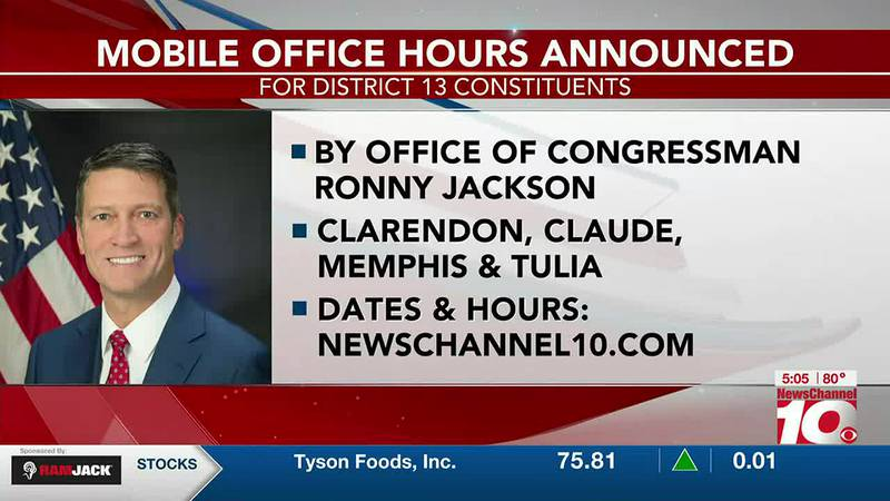 VIDEO: Congressman Ronny Jackson invites District 13 residents in upcoming new office hours