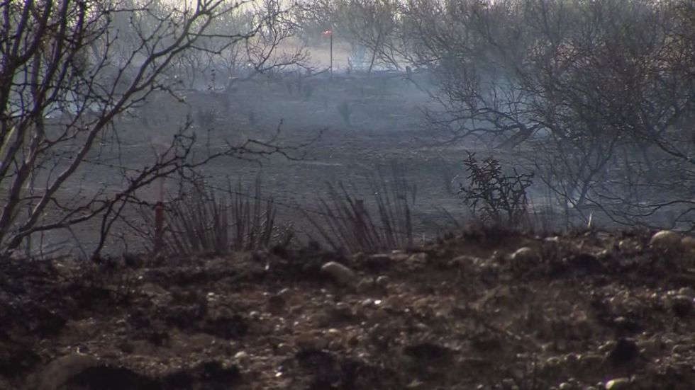 Aftermath of a fire in Potter County; Source: KFDA