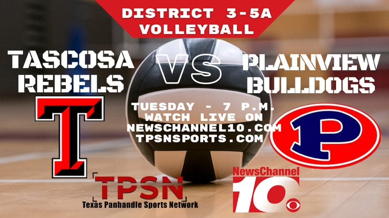 Tascosa vs Plainview volleyball game