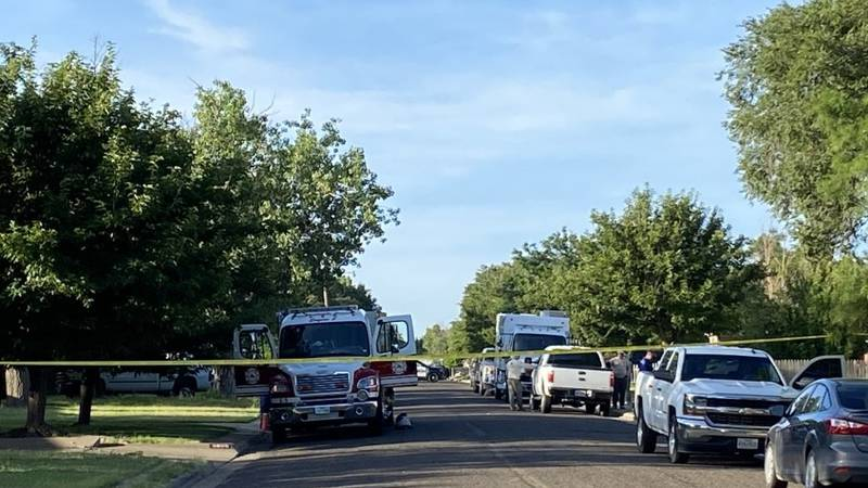 Police are at the scene of an explosion that occurred in South Amarillo Monday