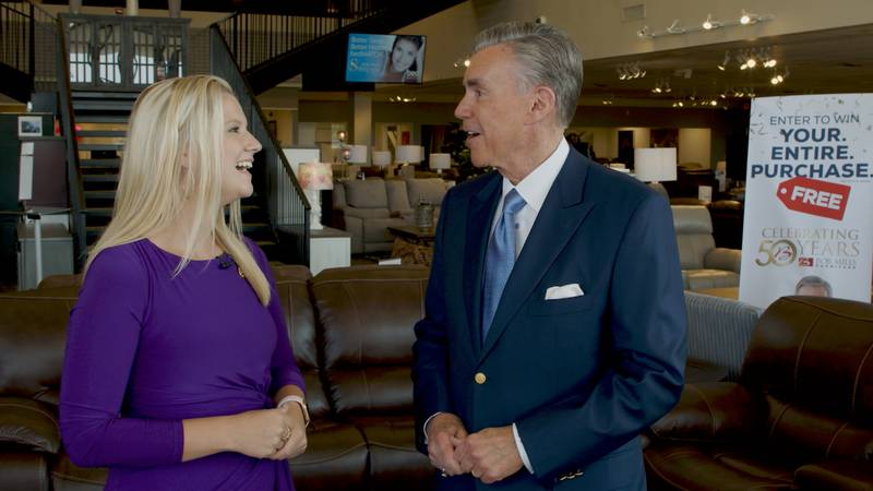 Bob Mills Furniture celebrates 50 years with 50 days of prizes, celebrations.