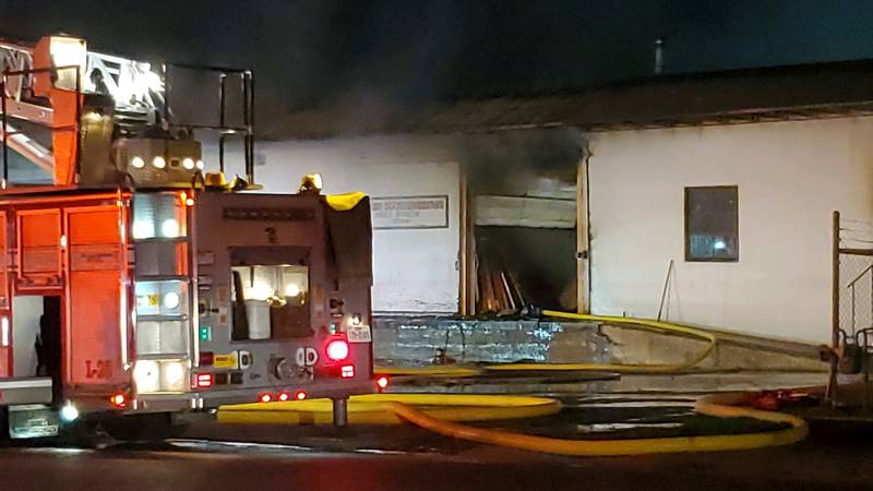 The Amarillo Fire Marshals Office continues to investigate the cause of a fire at Jenkins Doors...