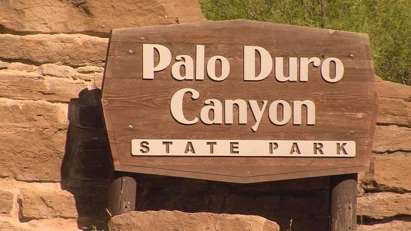 Sign welcoming visitors at the entrance to Palo Duro Canyon; Source: KFDA