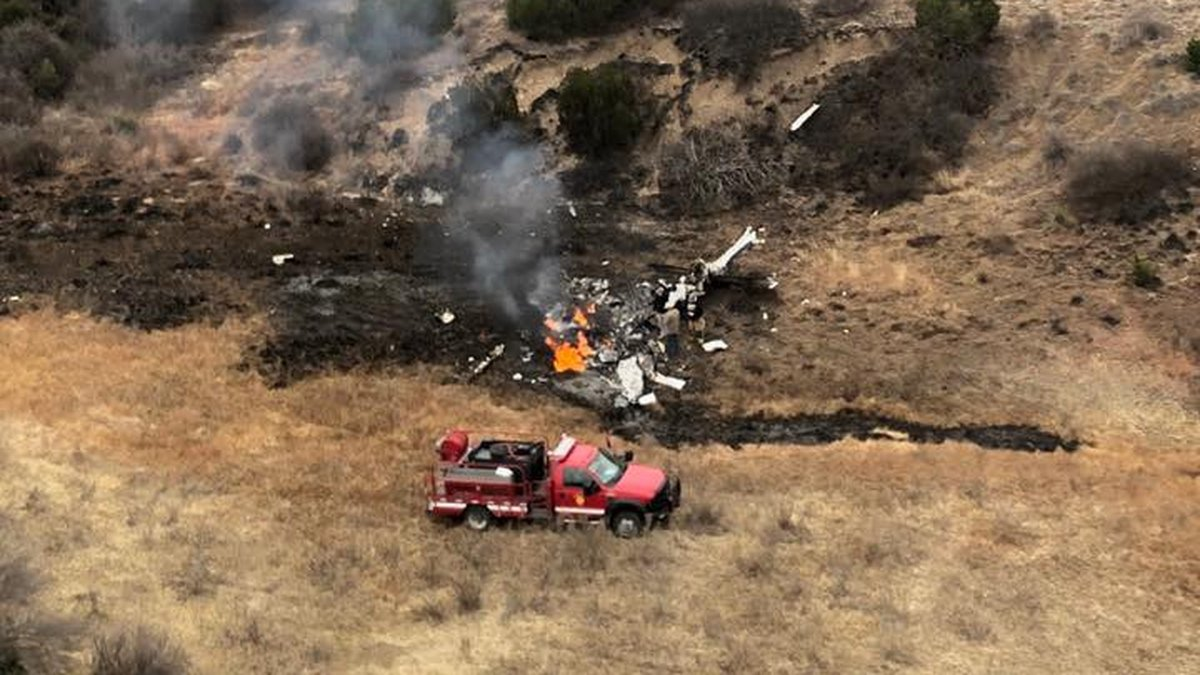 2 dead after plane crash in Roberts County (Source: Trey Webb with Flap-Air Helicopter, via the...