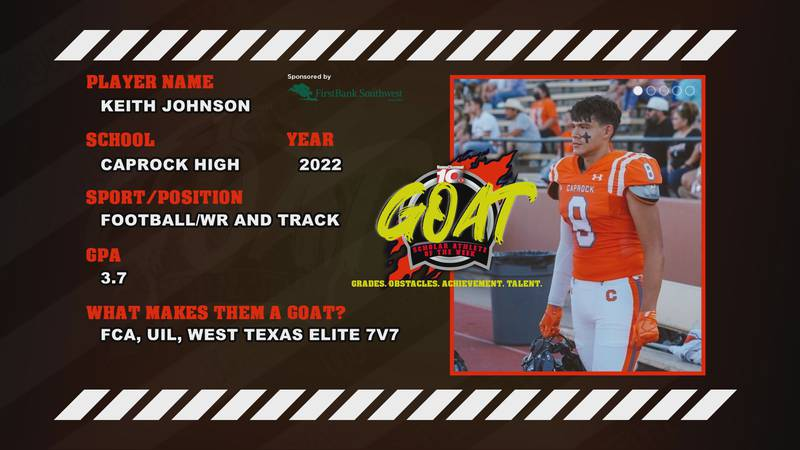 This week's FirstBank Southwest GOAT Scholar Athlete of the Week is thankful for the community...