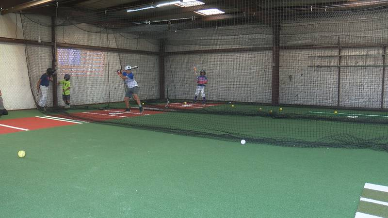 Families in the Barrio community now have access to a baseball-softball practicing facility...