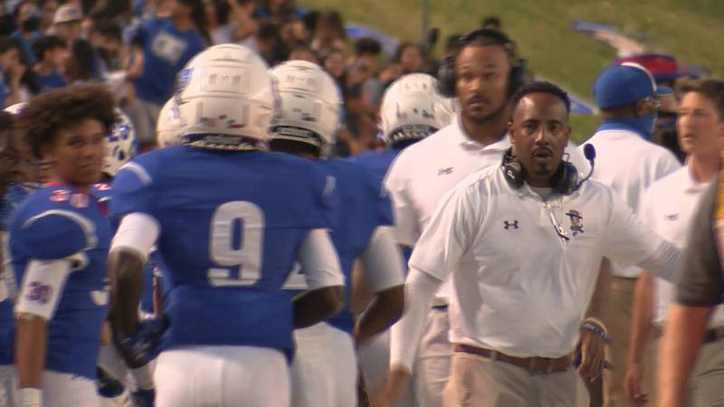 Head Coach Eric Mims secured the win in his first game with Palo Duro at Dick Bivins Stadium.