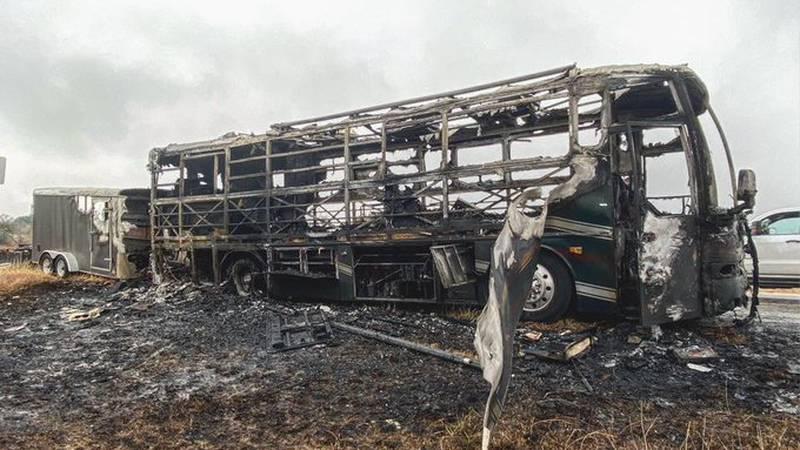 Shane Smith & The Saints tour bus burns in Coleman, TX