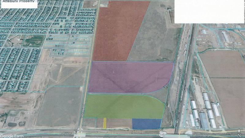 This map shows the land that would be purchased by the AEDC if approved. (Source: Amarillo...